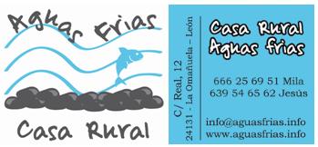 Complejo Rural Aguas Frías  -   La Omañuela   -   (León)    -    info@aguasfrias.info   -   987 308 309  -   639 54 65 62   -   666 25 69 51  -